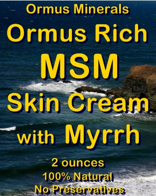 Ormus Minerals -Ormus Rich MSM Skin Cream with MYRRH